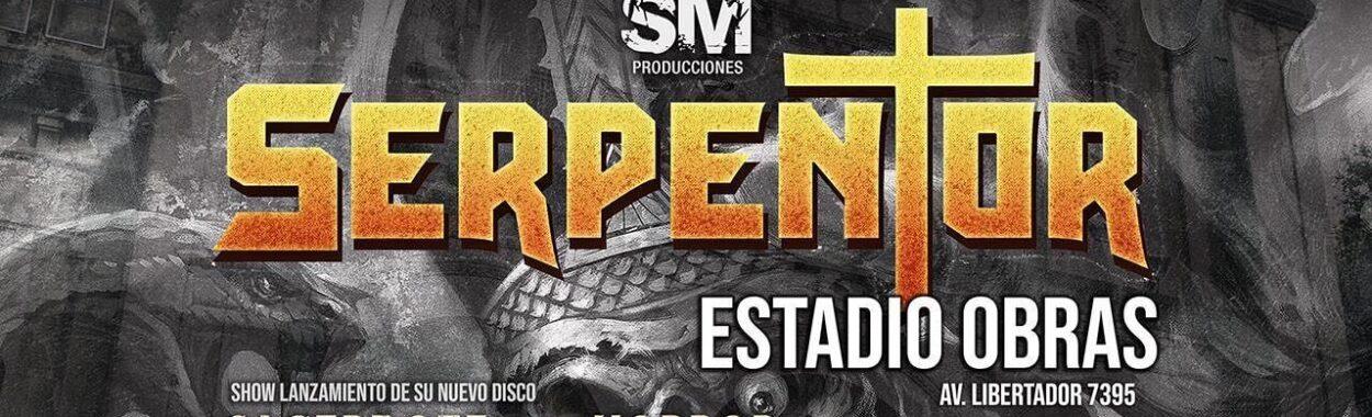 Serpentor se presentan en el Estadio Obras de Buenos Aires